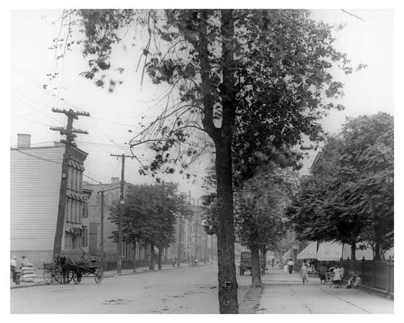 Bushwick Avenue north to Powers Street - Williamsburg - Brooklyn, NY 1916 F Old Vintage Photos and Images