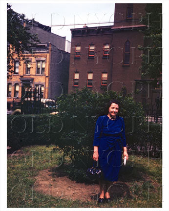 Bushwick Lady in blue in Park 1944 Old Vintage Photos and Images