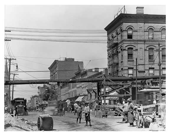 Bushwick & Montrose Ave  - Williamsburg - Brooklyn , NY  1923 F Old Vintage Photos and Images
