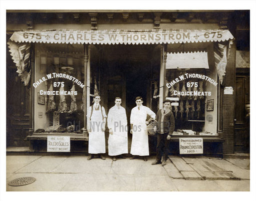 Butcher Shop 1914 Old Vintage Photos and Images