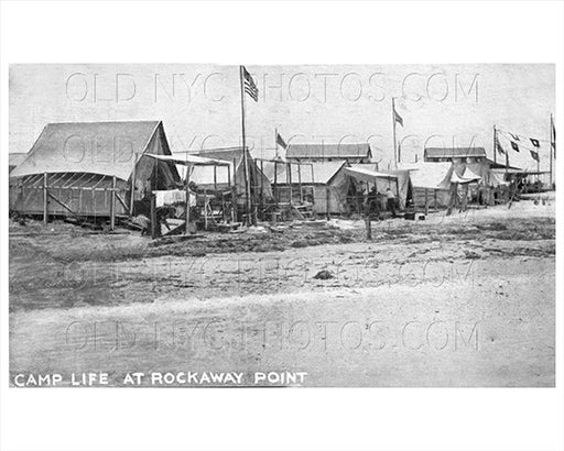 Camp Tents Breezy Point Rockaway Point 1915 Beach Old Vintage Photos and Images