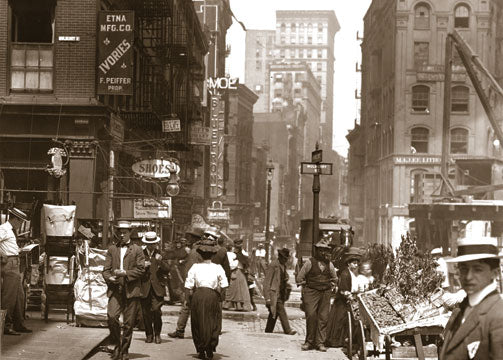 Canal St. west to mulberry & Walker Sts. Manhattan 1907 Old Vintage Photos and Images