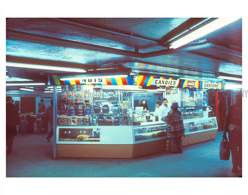 Candy Stand in the subway 1970's Old Vintage Photos and Images