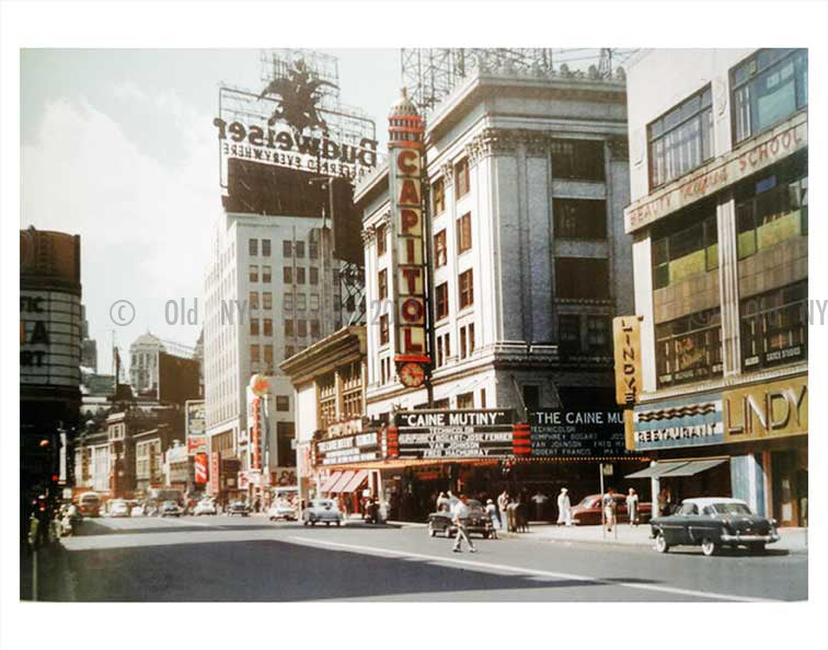 Capitol Theatre on Broadway north of Times Square 1954 Old Vintage Photos and Images