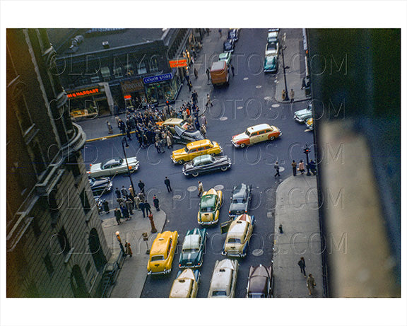 Car Crash on Broadway 1954 manhattan Old Vintage Photos and Images