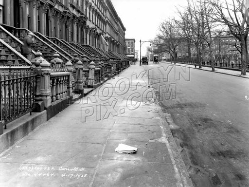 Carroll Street looking west toward Court Street, 1928 Old Vintage Photos and Images