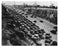 Cars lined up for the opening of the George Washington Bridge NYC Old Vintage Photos and Images