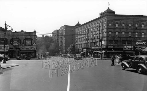 Caton Avenue, looking west to Flatbush Avenue, 1944 Old Vintage Photos and Images