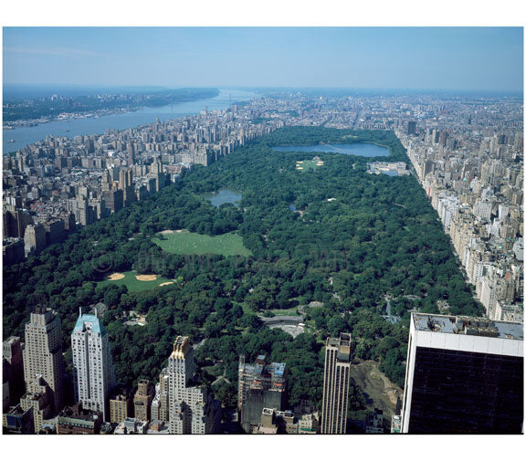 Central Park - Aerial view Old Vintage Photos and Images
