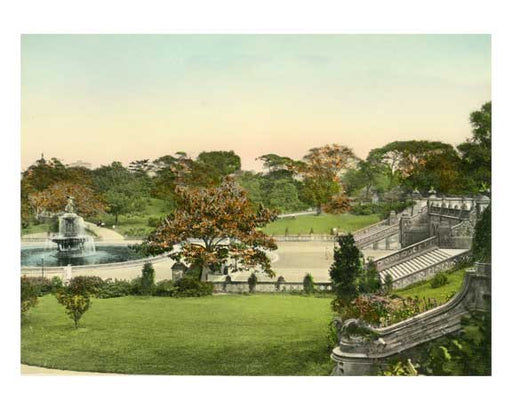 Central Park Bethesda Fountain & Terrace - New York, NY Old Vintage Photos and Images