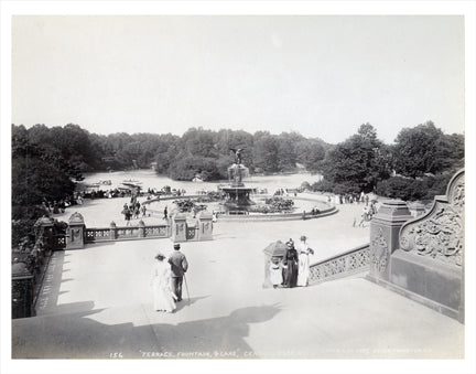 Central Park Fountain 1893 Old Vintage Photos and Images