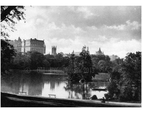 Central Park West - Lake Old Vintage Photos and Images