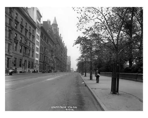 Central Park West - Upper West Side NY 1914 II Old Vintage Photos and Images