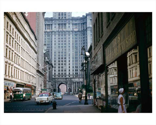 Chambers Street - Financial District Circa 1950 NYC Old Vintage Photos and Images