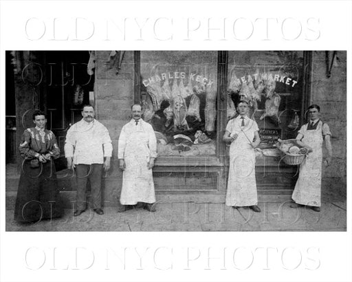 Charles Keck Meat Market, 1904 1385 Bedford Ave near Bergen Crown Heights Old Vintage Photos and Images
