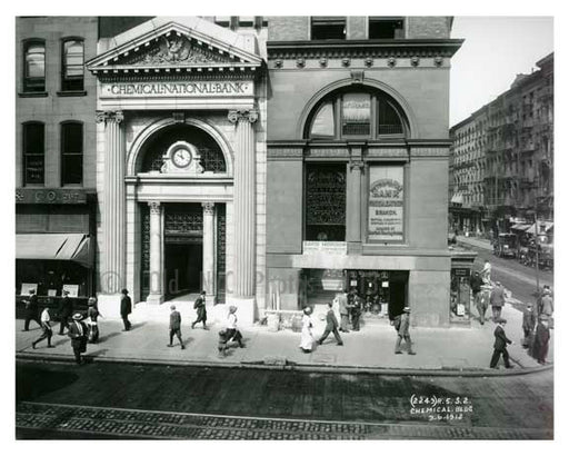 """Chemical National Bank"" Broadway  1912 - Soho Downtown Manhattan NYC G Old Vintage Photos and Images"