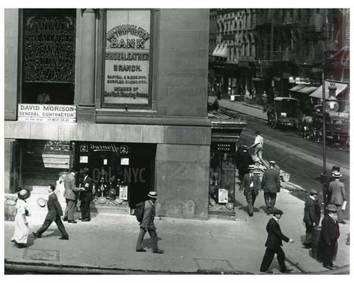 """Chemical National Bank"" Broadway  1912 - Soho Downtown Manhattan NYC H Old Vintage Photos and Images"