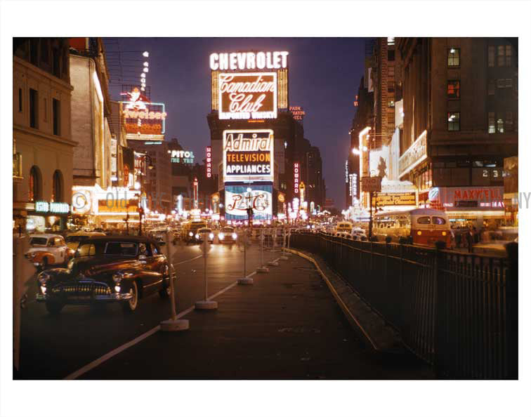 Cheverolet Billboard over Times Square Old Vintage Photos and Images