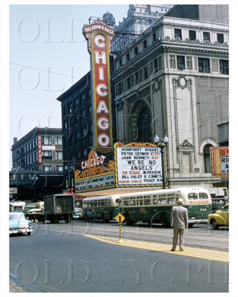 Chicago Theater Balaban & Katz Chicago, IL 1955 Old Vintage Photos and Images