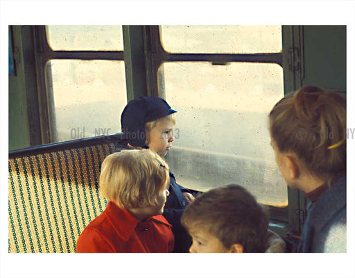 Children on the train 1970's Old Vintage Photos and Images