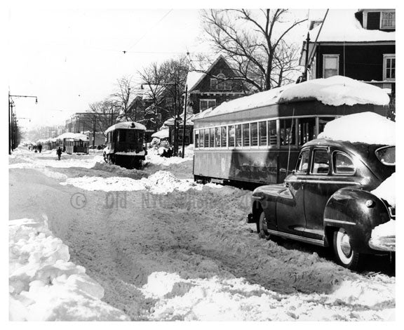 Church Ave at Rubgy Rd. Propsect Park South - Brooklyn NY Old Vintage Photos and Images