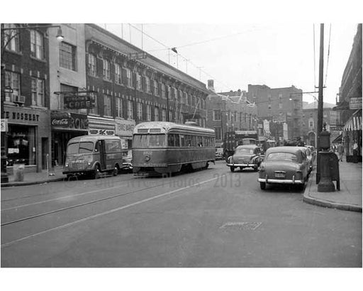 Church Ave Trolley Flatbush 1956 Old Vintage Photos and Images