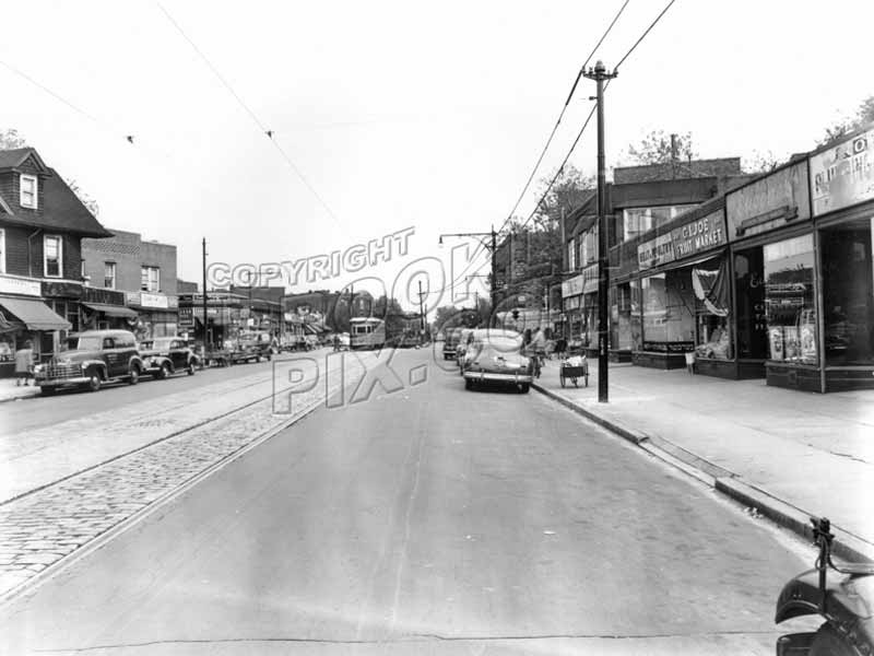 Church Avenue looking east from East 4th Street, 1949 Old Vintage Photos and Images