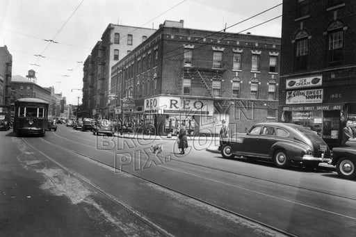 Church Avenue, looking east to East 19th Street, 1948 Old Vintage Photos and Images