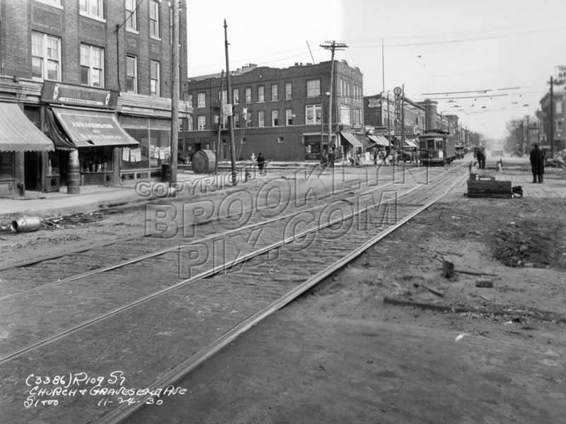 Church Avenue looking east to McDonald Avenue, 1930 Old Vintage Photos and Images