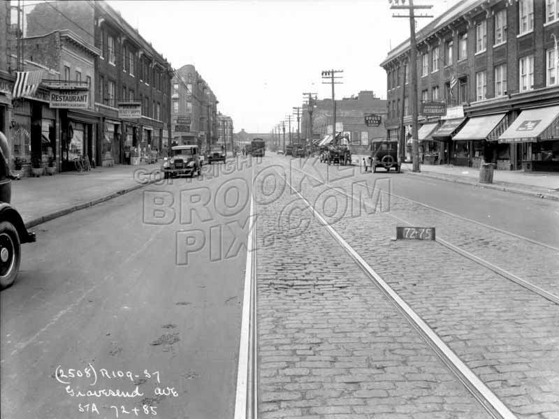 Church Avenue looking west from McDonald Avenue, 1929 Old Vintage Photos and Images