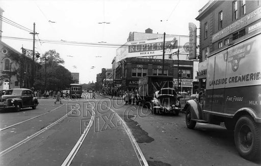 Church Avenue, looking west to Flatbush Avenue, 1948 Old Vintage Photos and Images