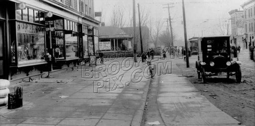 Church Avenue looking west to Utica Avenue, 1923 Old Vintage Photos and Images