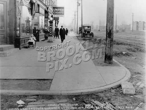 Church Avenue west from East 40th Street, 1924 Old Vintage Photos and Images