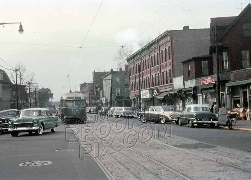 Church Avenue west from East 5th Street, October 1956 Old Vintage Photos and Images