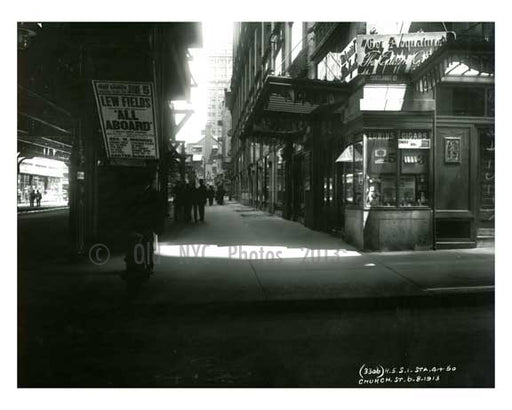 Church Street 1913 - Financial District Downtown Manhattan NYC C Old Vintage Photos and Images