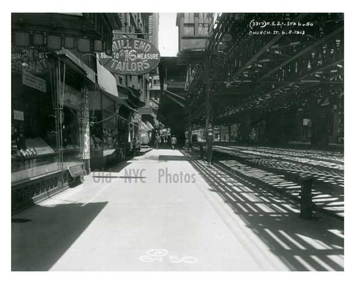 Church Street 1913 - Financial District Downtown Manhattan NYC E Old Vintage Photos and Images
