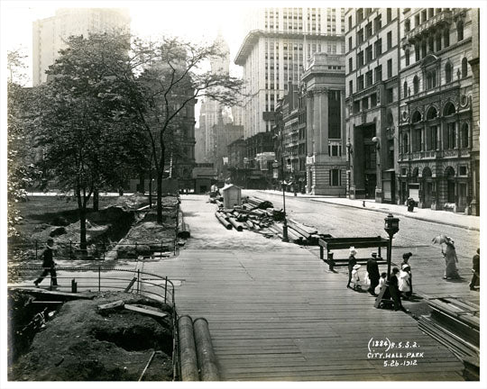City Hall Park 1912 Old Vintage Photos and Images