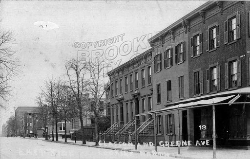 Classon Avenue north from Greene Avenue, 1910 Old Vintage Photos and Images