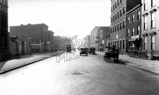 Classon Avenue south from Lafayette Avenue, 1931 A Old Vintage Photos and Images