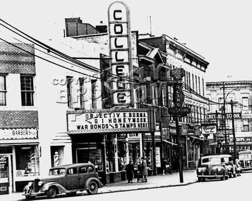 College Theater at Flatbush Avenue and Avenue H, 1945 Old Vintage Photos and Images
