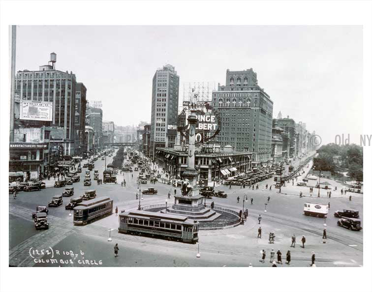 Columbus Circle Old Vintage Photos and Images