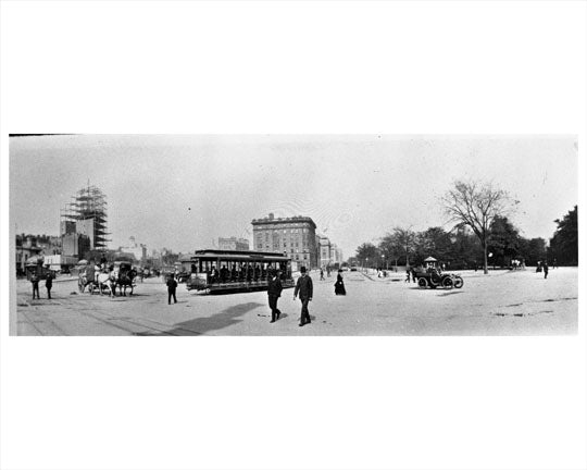 Columbus Circle Broadway & Central Park 1904 Old Vintage Photos and Images