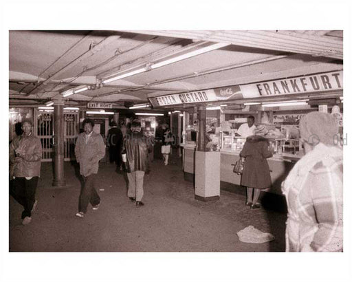 Commuters leaving the station 1970's Old Vintage Photos and Images