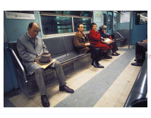 Commuters on the train 1970's Old Vintage Photos and Images