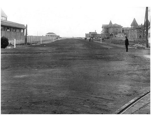Coney Island Ave - looking south from Brighton Beach to the Ocean 1922 Old Vintage Photos and Images
