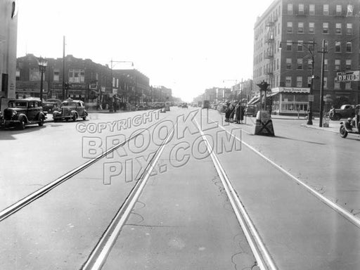 Coney Island Avenue at Avenue J, c.1940 Old Vintage Photos and Images