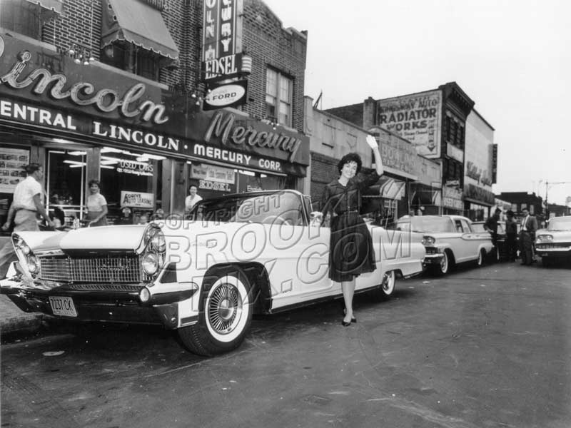 Coney Island Avenue Lincoln Mercury dealer, 1960 Old Vintage Photos and Images