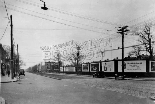 Coney Island Avenue looking south from Avenue N, 1928 Old Vintage Photos and Images