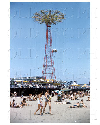 Coney Island Beach Girls 1958 Old Vintage Photos and Images