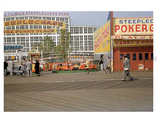Coney Island boardwalk 1950's Old Vintage Photos and Images